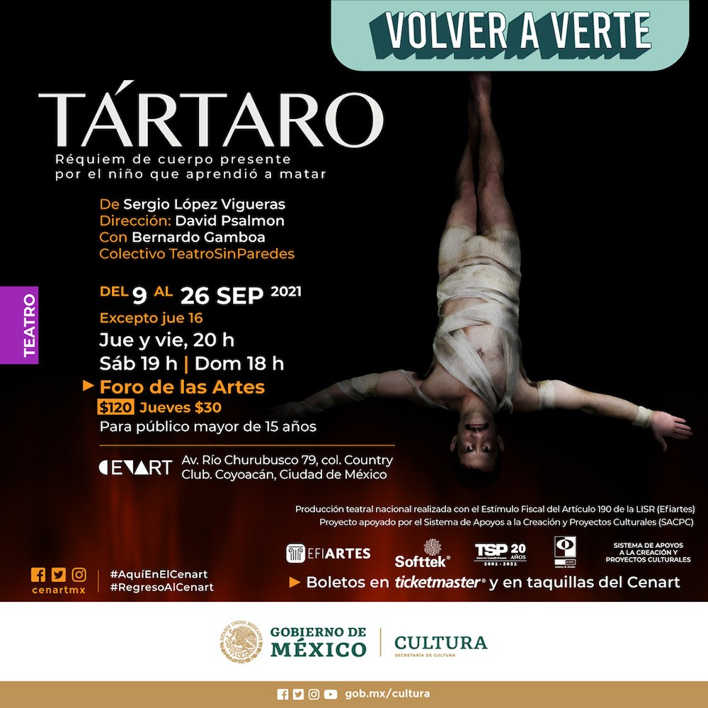 Te invitamos a ver Tártaro en el Cenart.